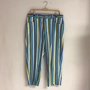 JONES NEW YORK Striped Cropped Pants NWT